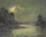 Lakeshore Moon 18x24